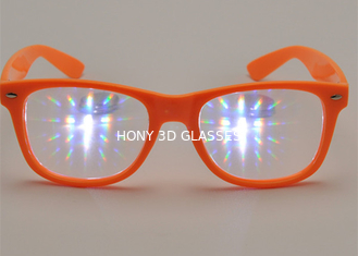 Customized Plastic 3d Fireworks Glasses With Strong 13500 Clear Diffraction Lens