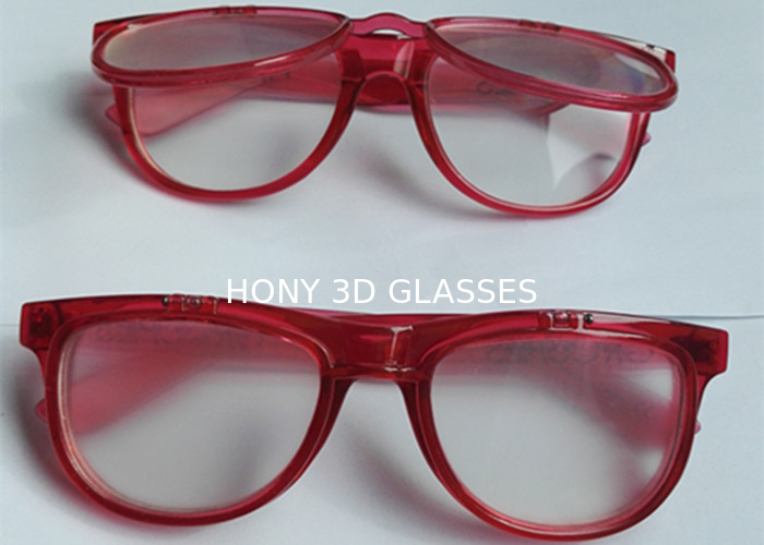 Custom Logo Flip Up Double Light Diffraction Glasses Eco - Friendly