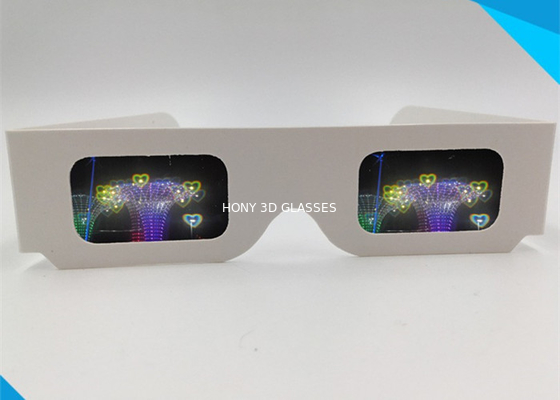 Cina Paper Custom Logo 3d Glasses For Fireworks / Heart / Christmas Tree / Snowman / Spiral Distributor