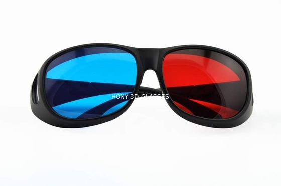 Cina Foldable Plastic Red Cyan 3D Glasses For Normal Tv Or Computer Distributor