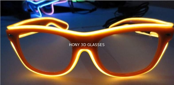 Cina High Brightness Orange El Wire Glasses For Party Show With Pc Plastic Frame Distributor