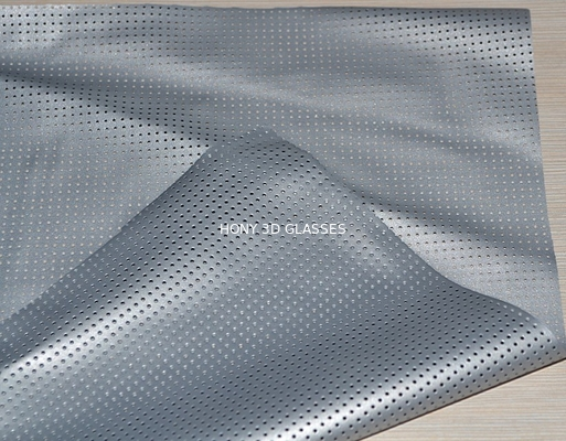 Cina Perforated Pvc Silver Projection Screen Foldable For 3D Cinema Distributor