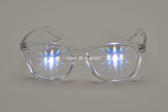 Cina Hony 3D Fireworks Glasses Clear Frame, PC 3D Glasses Distributor