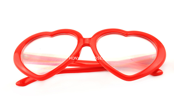 Cina Red Frame Plastic Diffraction Glasses For Night Club , Dance Event Distributor