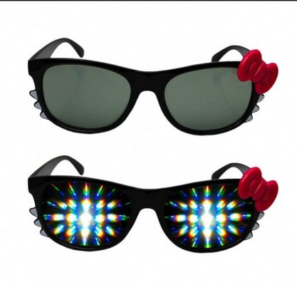 Cina Firework Plastic Diffraction Glasses , Hello Kitty Rainbow Glasses Distributor