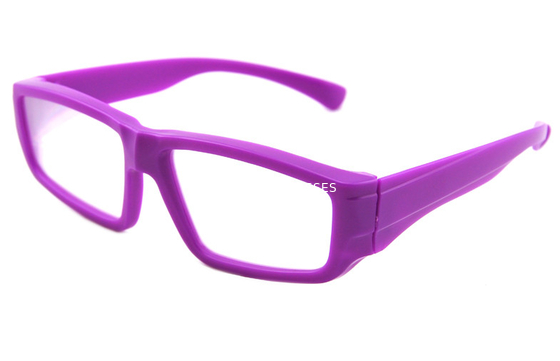 Cina Purple Plastic Diffraction Glasses Use 0.35mm Thickness Lens Distributor