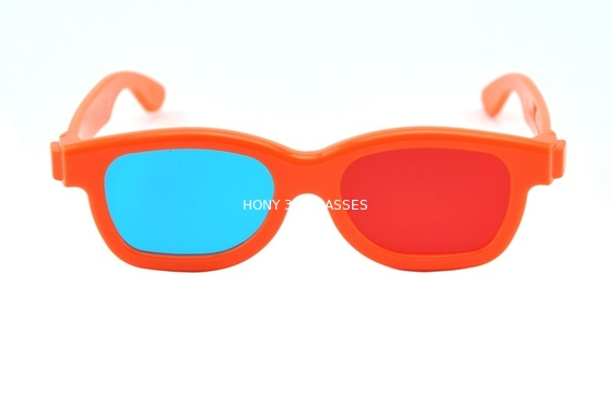 Cina Children Plastic Red Cyan 3D Glasses , polarized 3d red cyan glasses Distributor