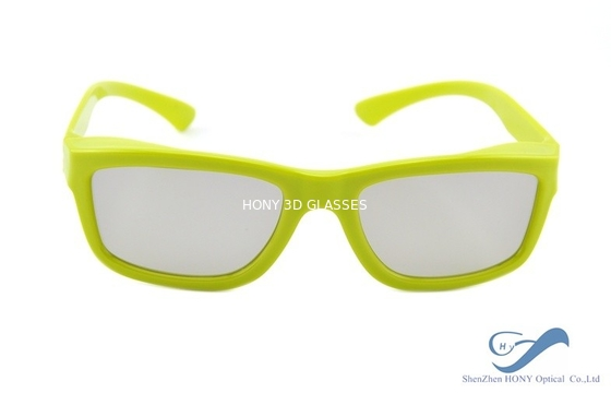 Cina Yellow Plastic Frame Circular Polarization Lenses Reald 3D Polarized Glasses Distributor