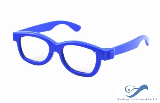 Cina Blue Frame Reald 3D Polarized Glasses Circular For Kids And Adult Distributor