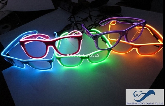 Cina Popular El Wire Glasses Diffraction Effect Lens For Watching Fireworks Distributor