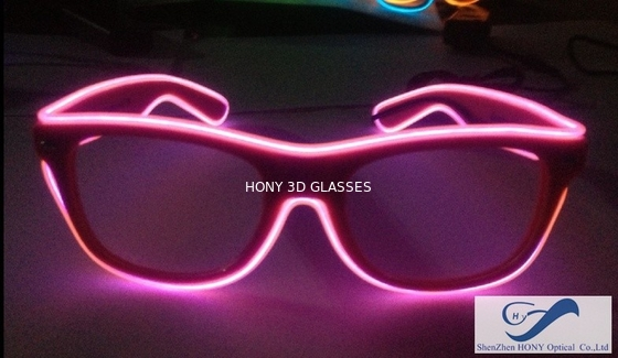 Cina Shining Plastic El Wire Glasses Colorful Frames For Christmas Festival Party Distributor
