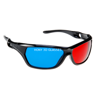 Cina Anaglyph Plastic Red Cyan 3D Glasses Passive For Watching Movie Distributor